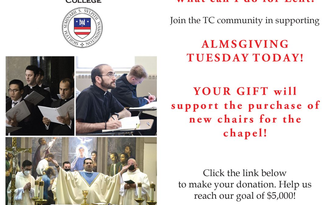 AlmsGiving Tuesday: March 23,  2021